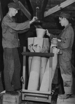 ammunition supply   practice bombs filler base supply