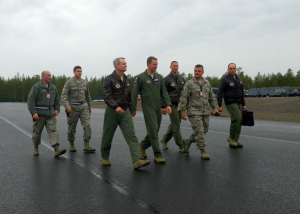 3rd AF commander visits Sweden, speaks with Airmen